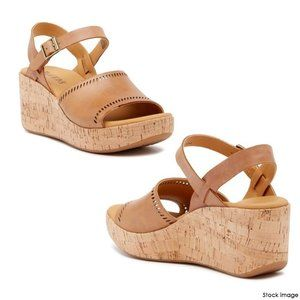 KORKS  Tone Platform Wedge Sandals NWT